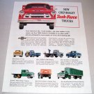 1955 Chevrolet Task Force Trucks Color Print Ad