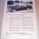 1955 Buick Roadmaster Automobile Print Car Ad