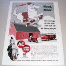 1955 AC Spark Plugs Farming Horse Art Print Ad