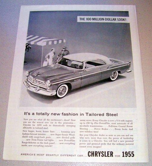1955 Chrysler Windsor Deluxe Automobile Print Car Ad