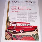 1955 Ford Country Sedan Station Wagon Automobile Print Car Ad