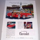 1955 Chevrolet Bel Air Beauville Station Wagon Print Car Ad Church House Art