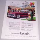 1955 Chevrolet Automobile Print Car Ad Carnival Art