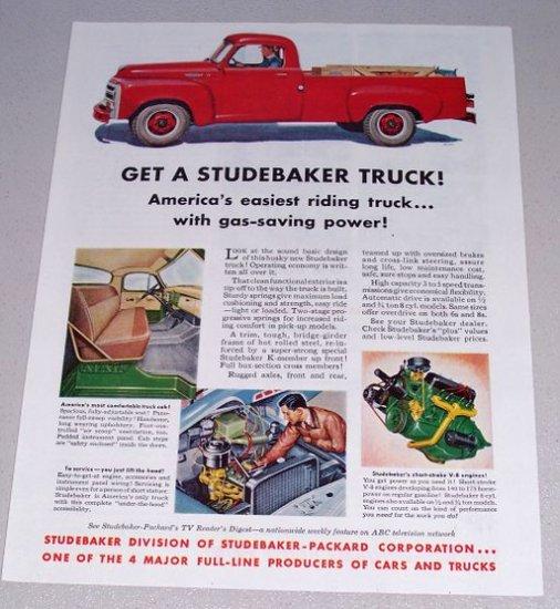 1955 Color Print Ad Studebaker Pickup Truck