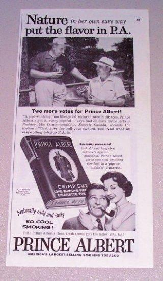 1955 Print Ad Prince Albert Pipe Tobacco Arthur Prather Everett Canada