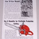 1955 Print Ad Homelite Chain Saw Mr Smart Connelly Springs NC