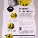 1954 McCulloch Model 33 Farm Chain Saw Print Ad