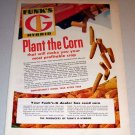 1959 Color Print Ad Funk's G Hybrid Seed Corn