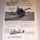 1959 Print Ad John Deere 45 Combine Farming Equipment