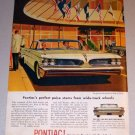 1959 Color Car Print Ad Pontiac Bonneville Automobile