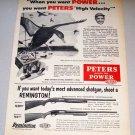 1956 Print Ad Peters Long Range 12ga Shotgun Shells Water Fowl Duck Hunting Art