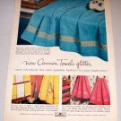 1956 Color Print Ad Cannon Glitter Towels