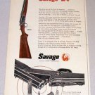1956 Color Print Gun Ad Savage 24 All Purpose Firearm Gun