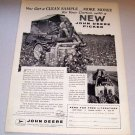 1958 Farm Print Ad John Deere 22 One Row Mounted Picker