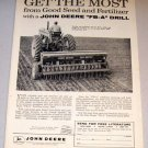 1958 Farm Print Ad John Deere FB-A Fertilizer Grain Drill
