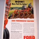 1958 Color Farm Print Ad Ford Powermaster Tractors