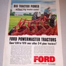 1958 Ford Powermaster Tractors Color Farm Art Print Ad