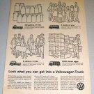 1961 Print Ad VW Volkswagen Truck