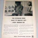 1961 Print Ad Bell Telephone System Charles Nemet Hampshire Illinois