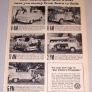 1961 Print Ad VW Volkswagen Farm Truck