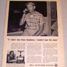 1961 Print Ad Bell Telephone System Eldon Hott Franklin West Virginia