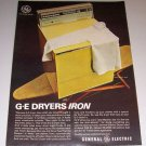 1966 Color Print Ad General Electric Clothes Dryer