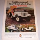 1966 Color Print Ad Jeep Universal 4 Wheel Drive Vehicle