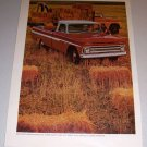 1966 Print 2 Page Ad Chevrolet Fleetside Pickup Truck