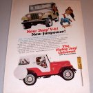 1966 Color Print Ad Jeep Universal 4 Wheel Drive Vehicle