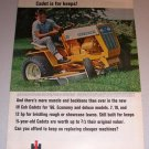 1966 Color Print Ad IH International Harvester 122 Cub Cadet Mower