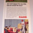 1966 Color Print Ad Case 190 Compact Garden Tractor