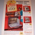 1966 Color Print Ad Hotpoint Model RB540G Teflon Range