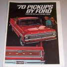 1970 Pickups By Ford 12 Page Insert Truck Ad