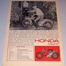 1964 Print Ad Honda Trail 55 Motorcycle C.R. Griffith Ojai Valley California