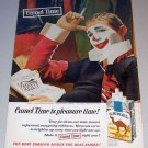 1964 Color Print Ad Camel Cigarettes Tobacco Clown Entertainer