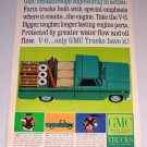 1964 Color Print Ad GMC Pickup Truck Art