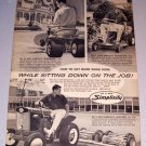 1964 Print Ad Simplicity Riding Mowers Broadmoor Wonderboy Landlord