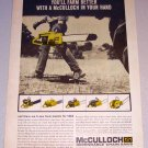 1964 Print Ad for 1965 Model McCulloch Chain Saws
