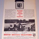 1964 David Brown Farm Tractor Print Ad