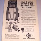 1964 Sunray DX Oil Company Gas Truck Print Ad