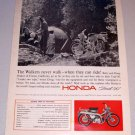 1965 Print Ad Honda Trail 90 Motorcycle Betty Doug Walker Fresno California