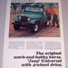 1965 Green Jeep Universal 4 Wheel Drive Vehicle Color Print Ad