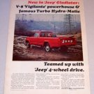 1965 Jeep Gladiator Pickup Truck Color Print Ad