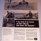 1965 John Deere 707 Gyramor Farming Print Ad