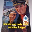 1965 Camel Cigarettes Color Print Art Ad Men Of The Sea