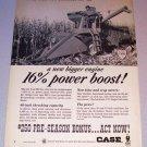 1966 Case 660 Combine Farming Print Ad