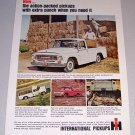 1965 White International Pickup Truck Color Print Ad
