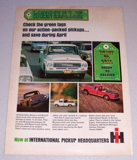 1965 International Pickup Truck Color Print Ad