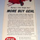 1962 Gehl Self Unloading Forage Box Farm Implement Print Ad