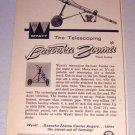 1962 Wyatt Telescoping Bazooka Carrier Auger Farm Implement Print Ad